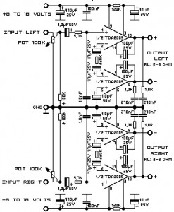 audio amplifier circuit tda2005