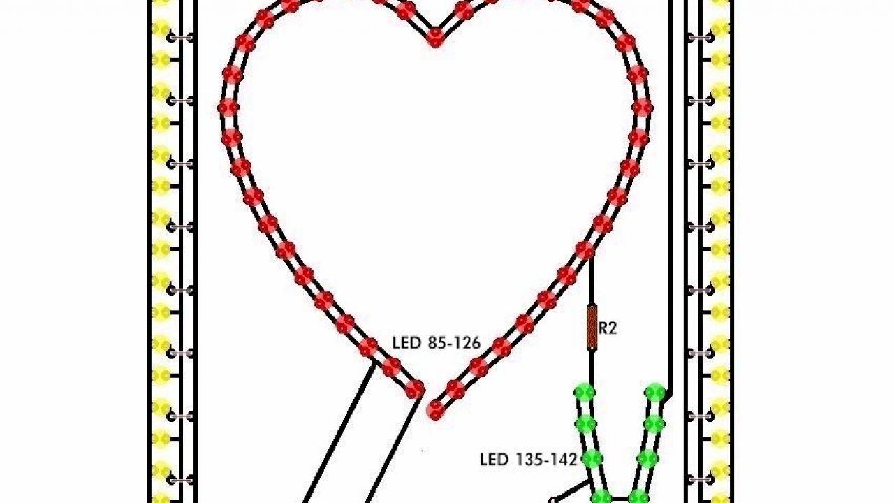 led flashing heart circuit schematic led flasher circuit electronic heart (flashing leds