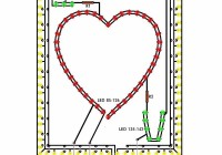 Flashing heart schematic diagram