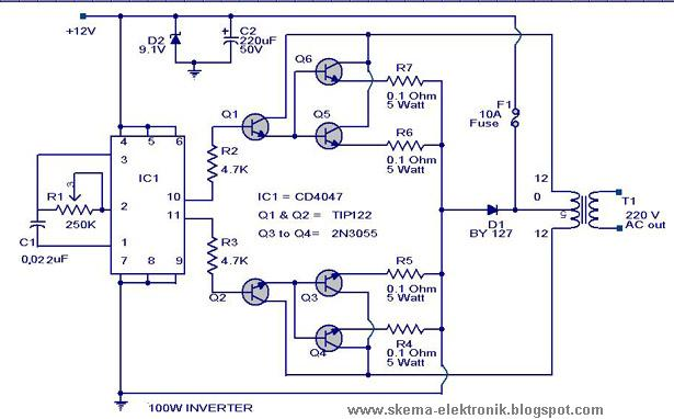 100 w inverter circuit diagram basic wiring diagram u2022 rh rnetcomputer co