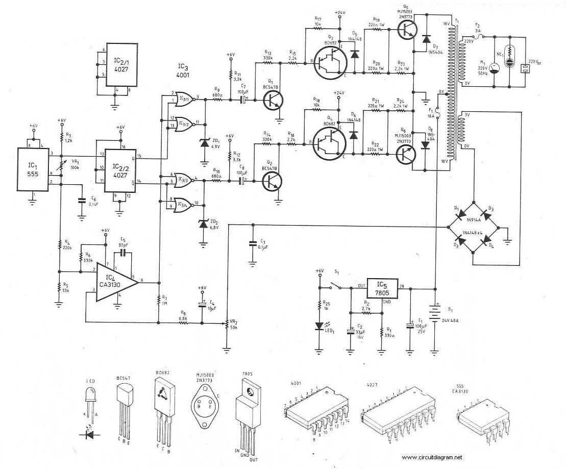 300watt Inverter Dc 24v To Ac 220v Circuit Schematic