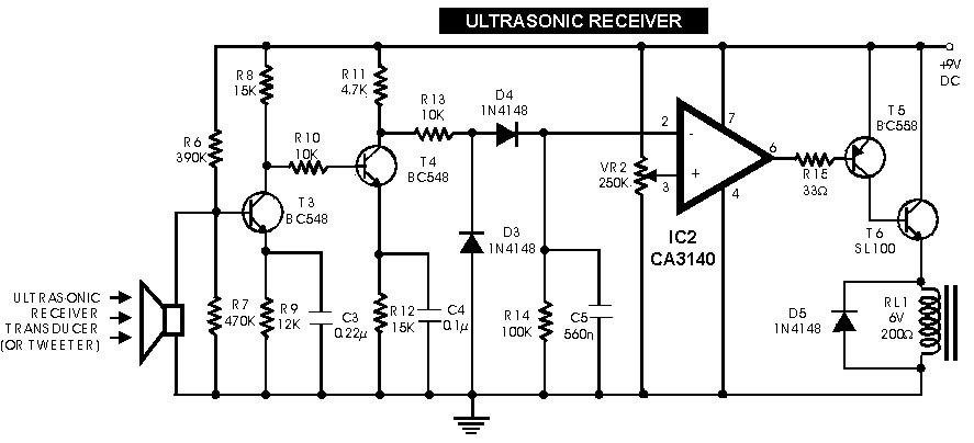 ultrasonic receiver - switch