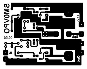 bottom PCB design 4W amplifier