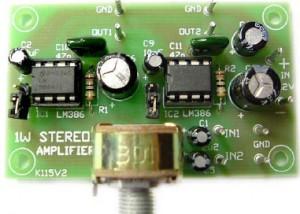 1W Stereo Audio Amplifier Kit