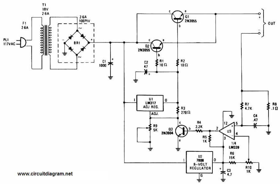 led series parallel wiring diagrams adjustable regulated battery charger circuit schematic #7