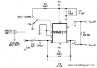 1.5W Small Audio Amplifier using IC SSM2211