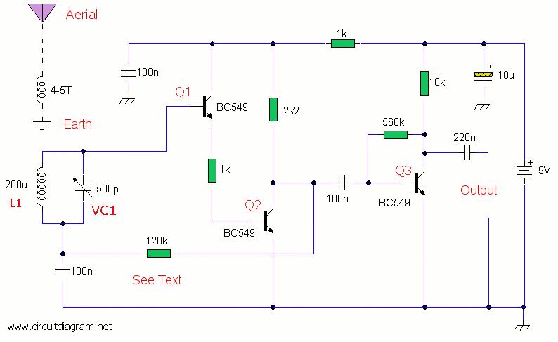 am radio receiver circuit schematicSchematic Diagram Of Cmc 707 Am Radio Receiver #6