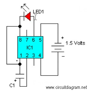 Simple Led Circuit Diagram   Led Flasher With Lm3909 Circuit Schematic