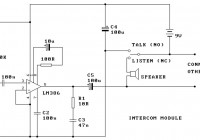 Two Station Intercom Circuit Electronic