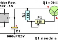 6-12V Variable Regulated Power Supply Circuit