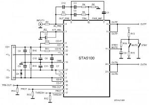 140W Power Amplifier Circuit Diagram STA5100