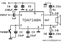 20W Bridge Amplifier Circuit based TDA7240A