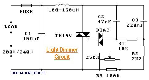 220v light dimmer circuit schematic rh circuitscheme com