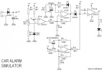 Car Alarm Simulator Circuit Electronic