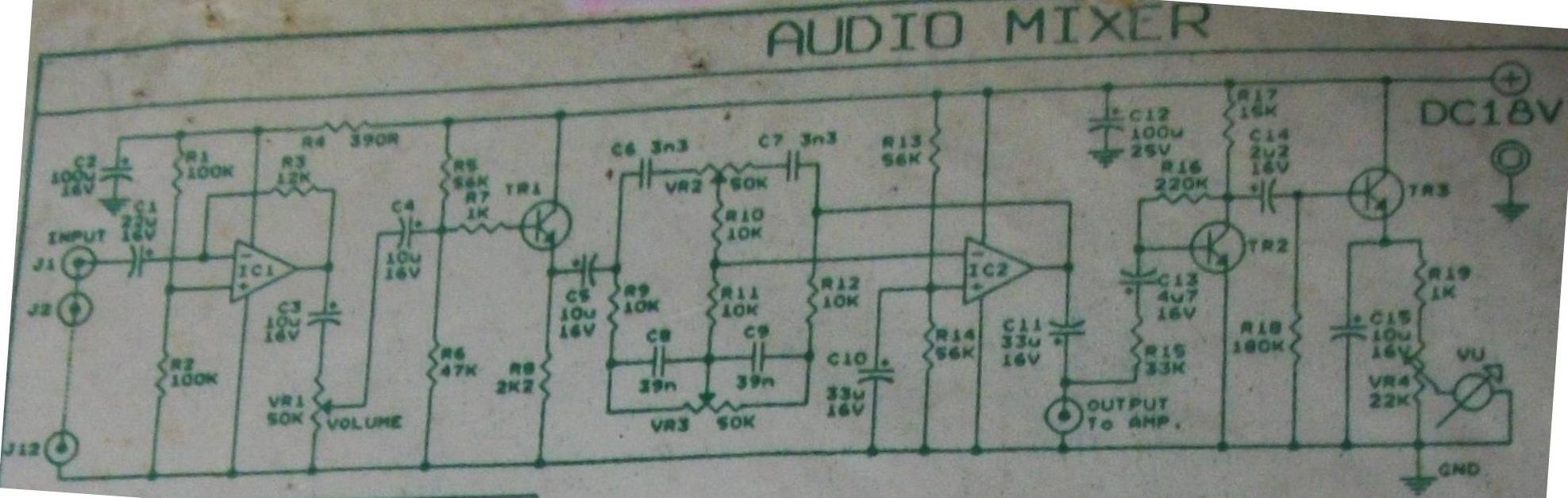 audio mixer vu meter circuit schematic rh circuitscheme com