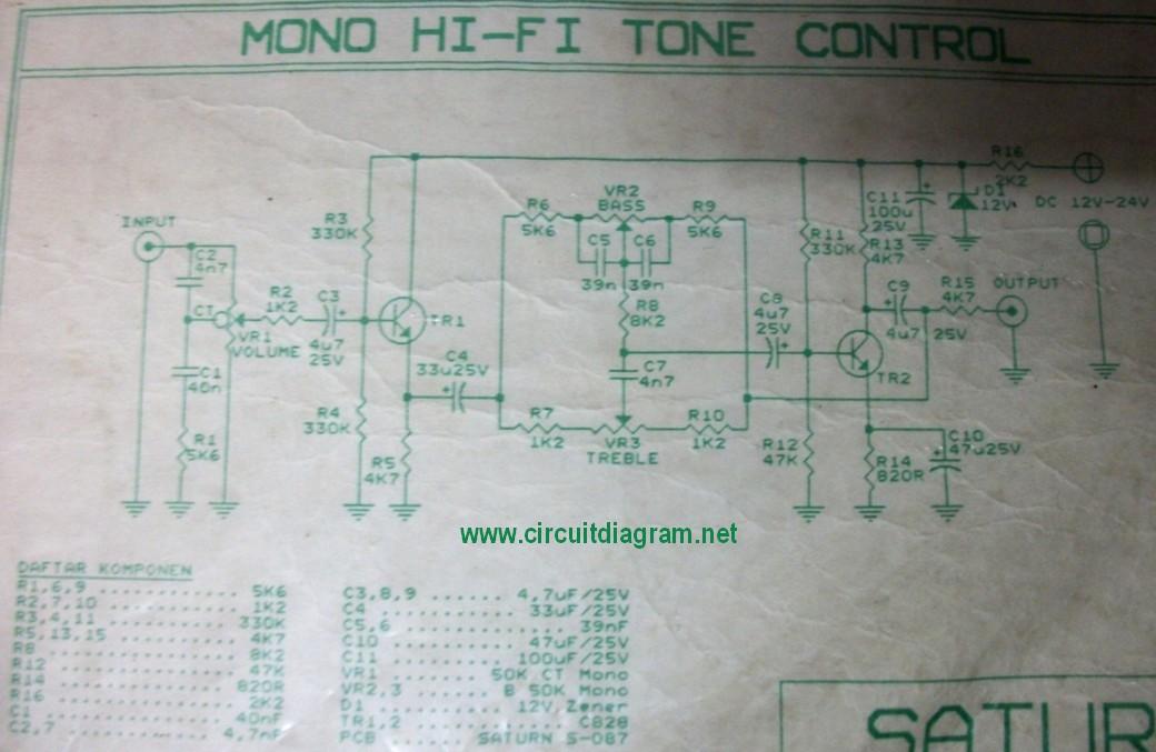 hi fi tone control circuit schematicHi Fi Tone Control With Transistors #15