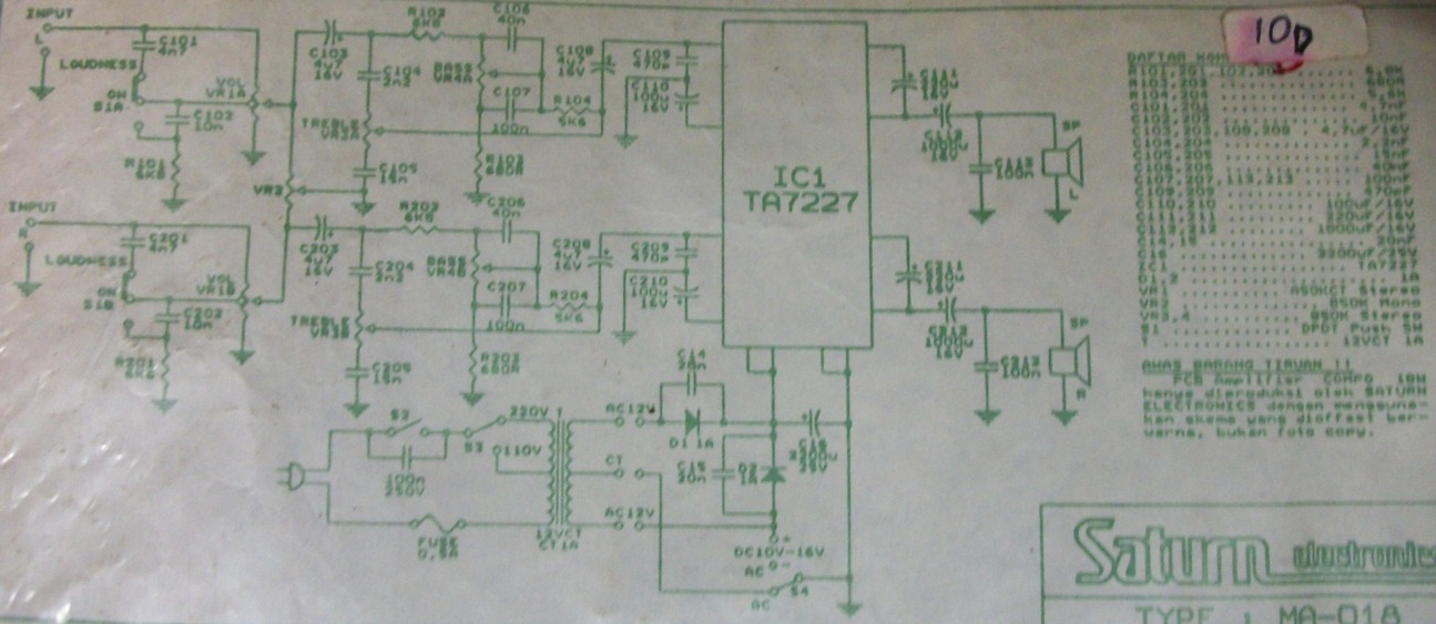 5w Stereo Audio Amplifier Based Ta7227 Tone Control