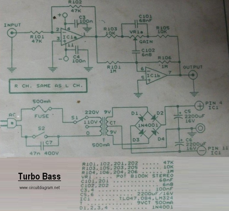 Turbo Bass Circuit Diagram on battery charger circuit diagram