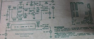 Active Tone Control circuit diagram