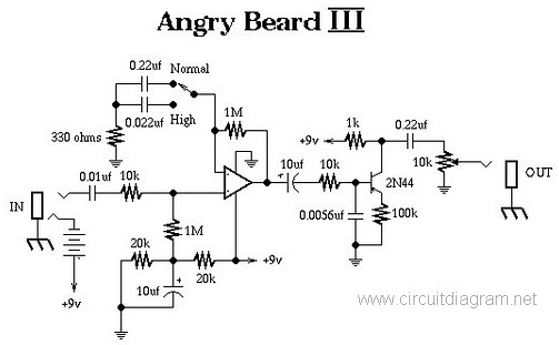 angry beard iii electric guitar effect circuit scheme. Black Bedroom Furniture Sets. Home Design Ideas