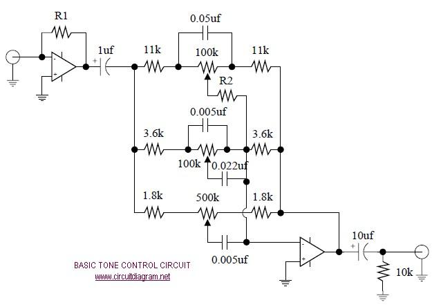 Basic Tone Control - Circuit Scheme