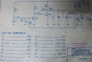Dynamic Mic Compressor circuit diagram