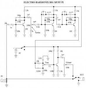Electro Harmonix Big Muff Pi Guitar Effect Circuit