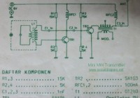 Mini MW Transmitter Circuit Electronic