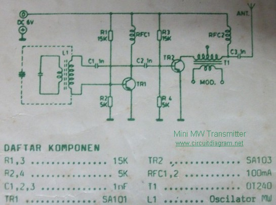 Mini Mw Transmitter Circuit Schematic