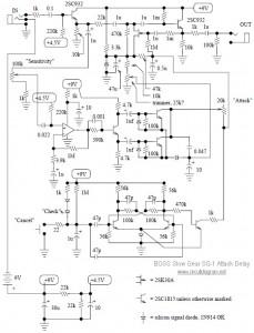 BOSS Slow Gear SG-1 Guitar Effect Circuit