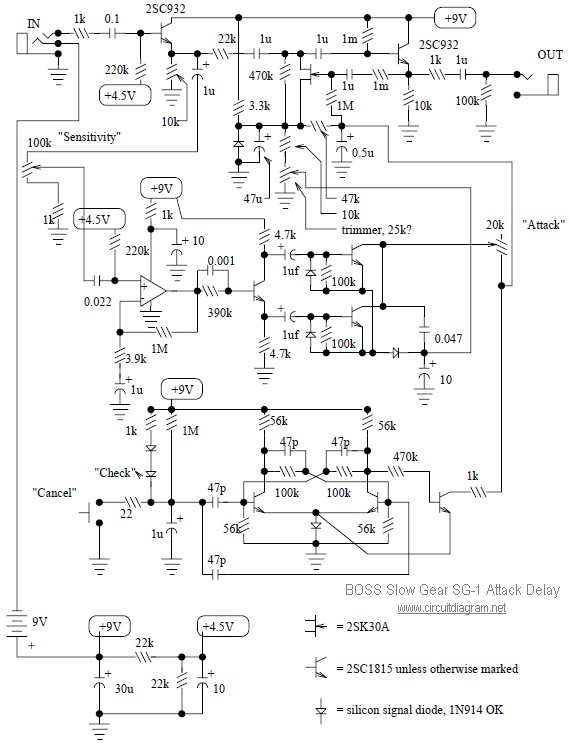 Boss Slow Gear Sg 1 Circuit Diagram