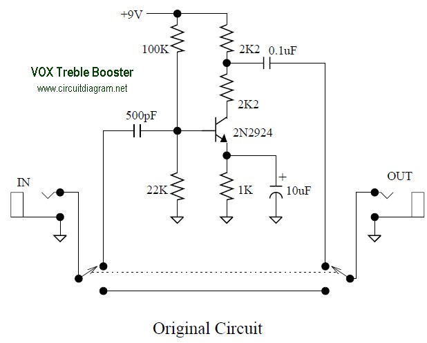 VOX Treble Booster circuit electronic