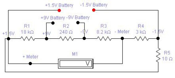 1 5v And 9v Battery Tester Circuit Schematic