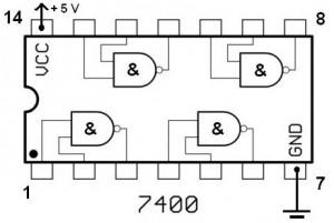 TTL IC 7400 NAND gate dual input