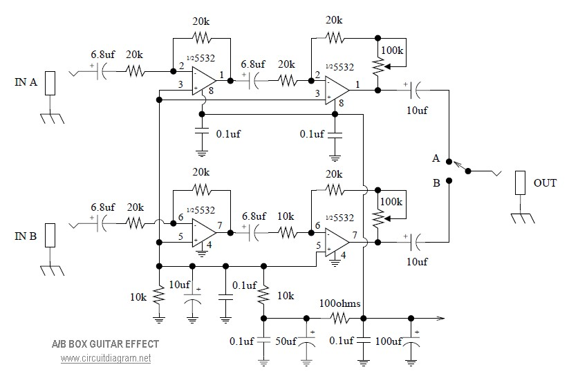 Ab Box Schematics on Diagram Of A Guitar Effects Pedal Circuit