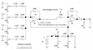 simple mixer circuit diagram