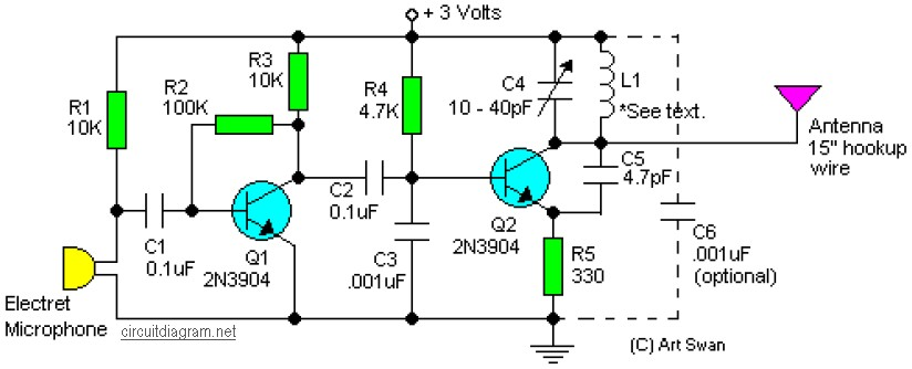 Sensitive Fm Transmitter Circuit