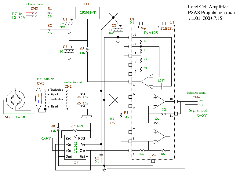 Load Cell Amp Schematic