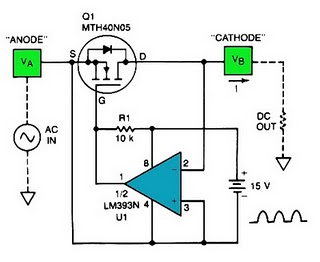 Low forward-drop out rectifier power supply