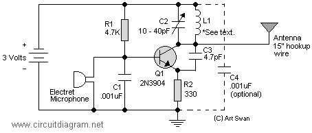 fm voice transmitter circuit diagram