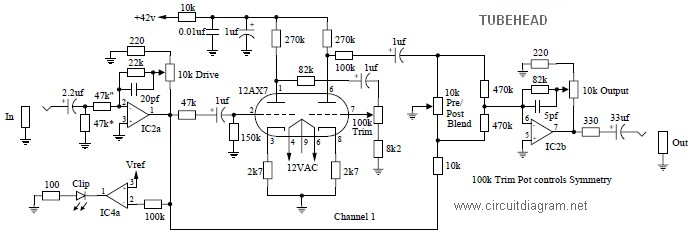 tubehead circuit diagram
