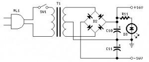10W amplifier power supply