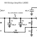 16W Bridge Amplifier using LM383