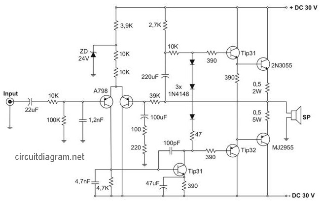 400w Power Amplifier Safari Circuit Schematic