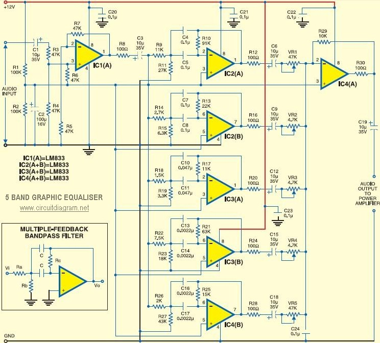 5-band Graphic Equaliser