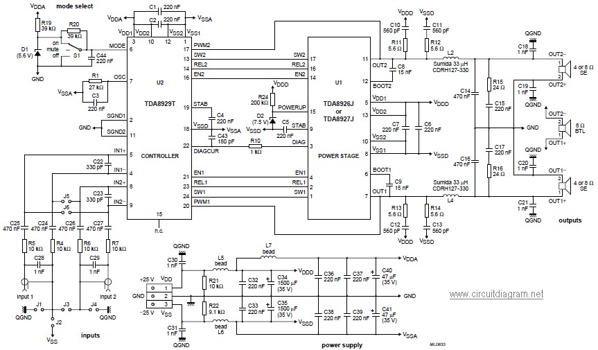 d200 class power amplifier circuit diagram diy audio