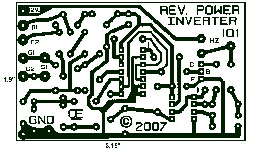 1000W Power Inverter PCB Layout Design Circuit Schematic