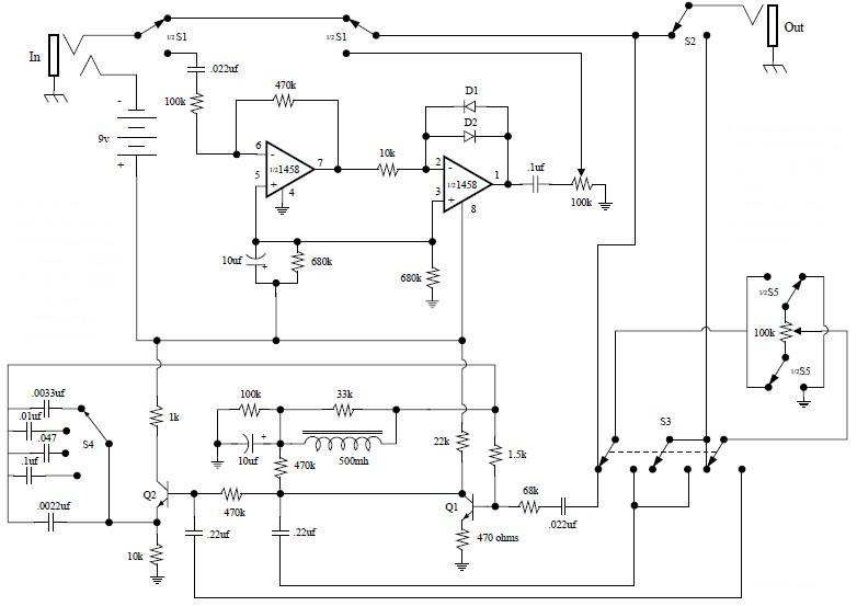 electro harmonix fuzz wah guitar effect circuit schematic rh circuitscheme com How Do Boomerangs Work Recurve Bow Diagram