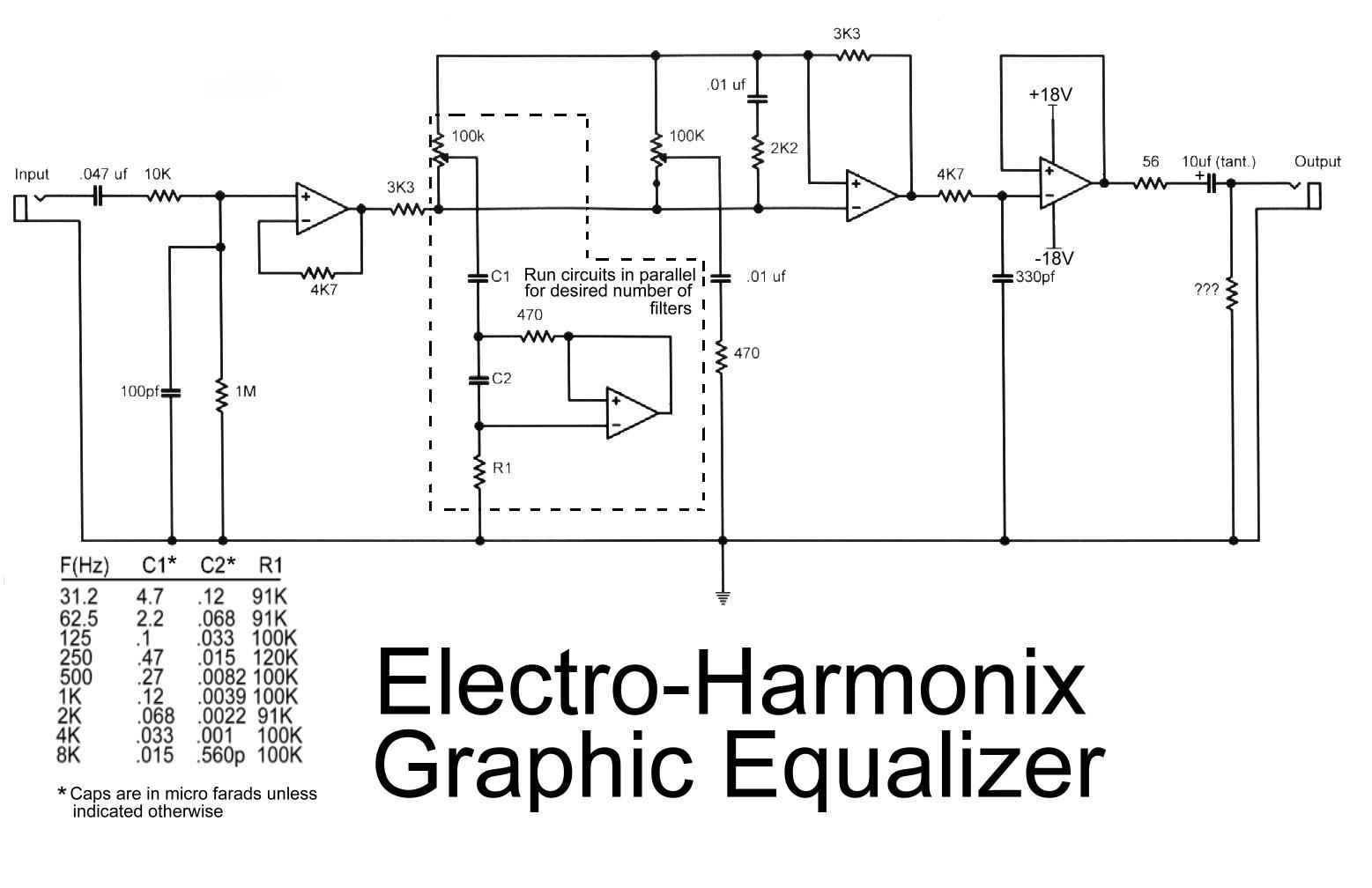 electro harmonix graphic equalizer - circuit schematic equalizer wiring diagram car equalizer wiring diagram
