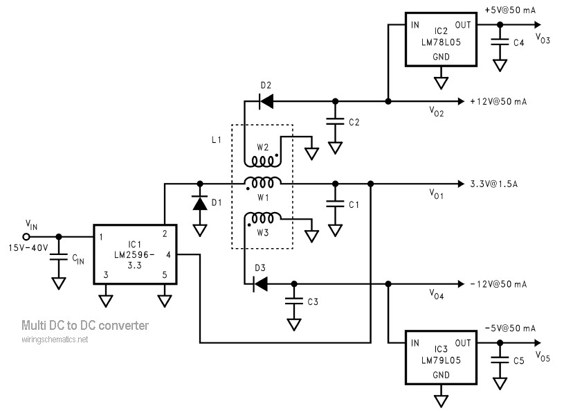 multi output dc to dc converter
